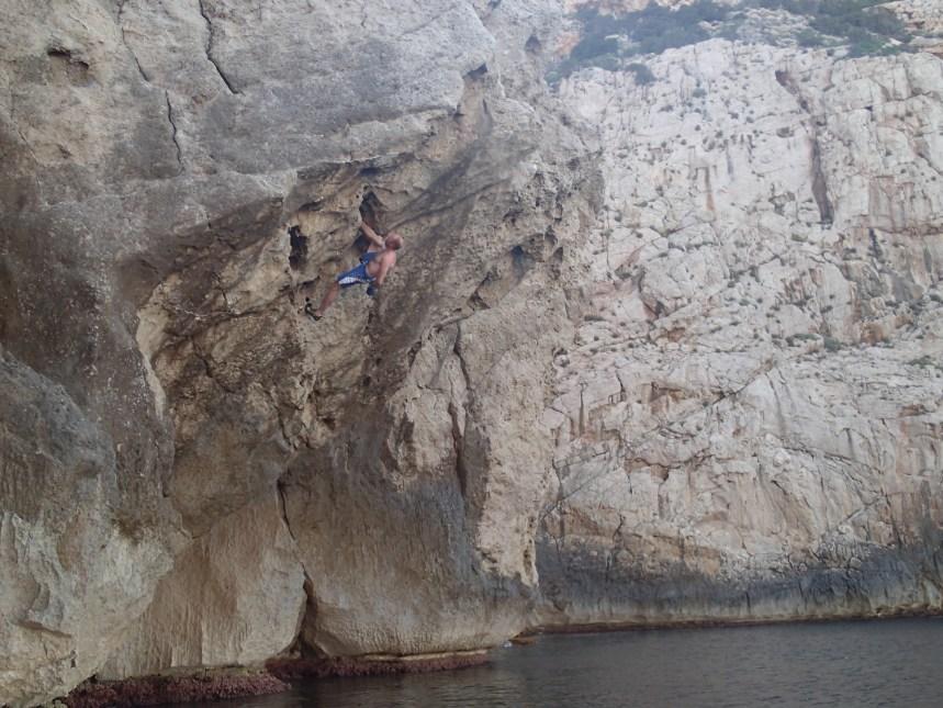 Overhanging Deep Water Solo Calla Portitxol