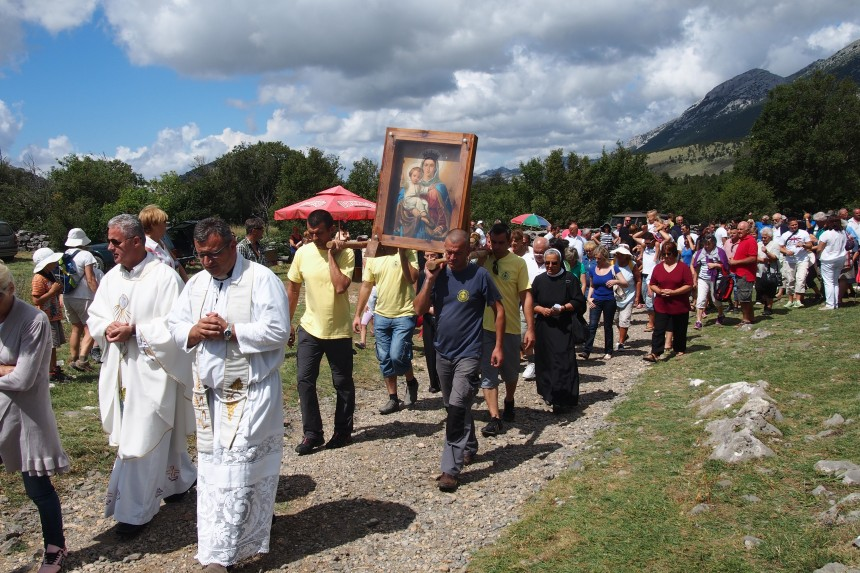 Procession to Celebrate the Feast of the Assumption