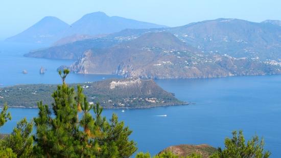 Volcano view to Lipari
